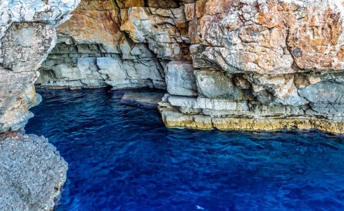 Odysseus cave on island Mljet