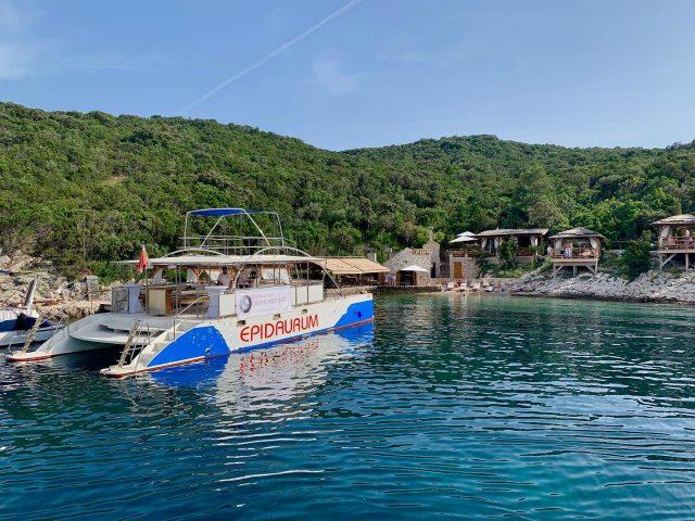epidaurum catamaran at sipan island