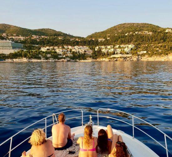 people having fun in a yacht dubrovnik